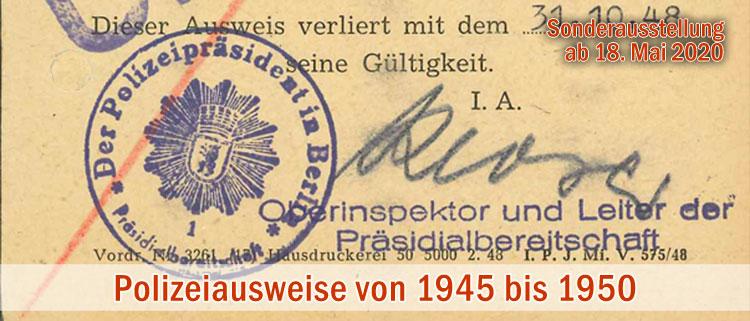 Dienstausweise 1945 - 1950