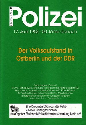 Der Volksaufstand in Ostberlin und der DDR